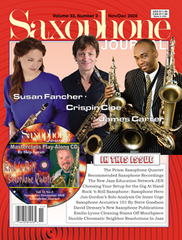 Crispin Cioe on Cover of Saxophone Journal | Cracked Ice